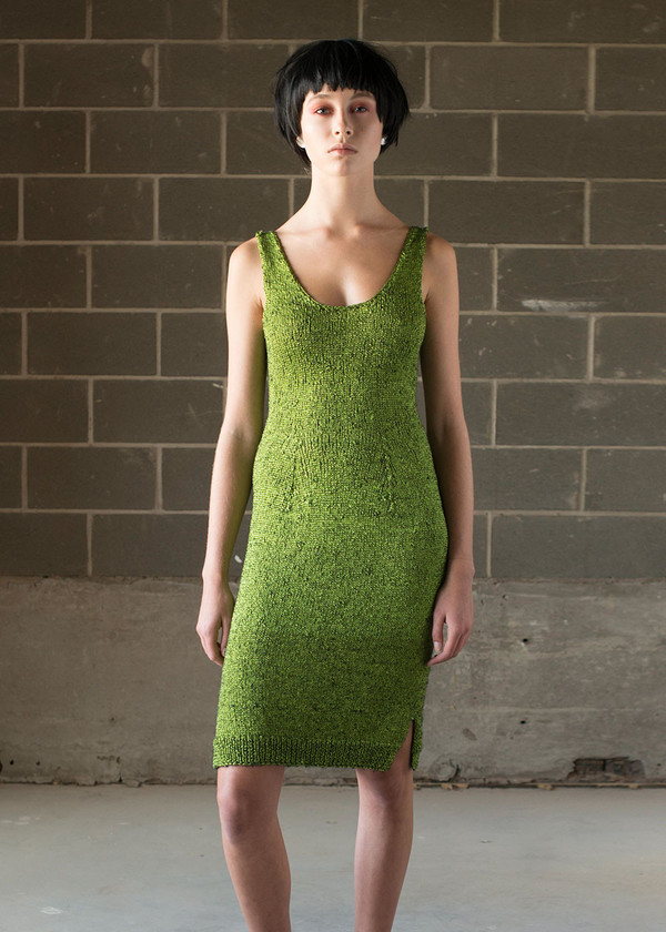 Malorie Urbanovitch Hand Knit Acid Dress