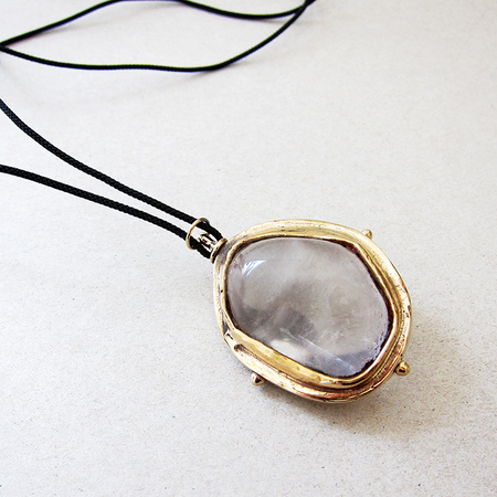 Peter Hofmeister solstice quartz necklace