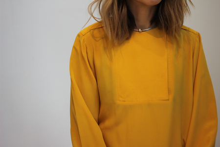 Hey Jude Vintage Brushed Silk Longsleeve Top
