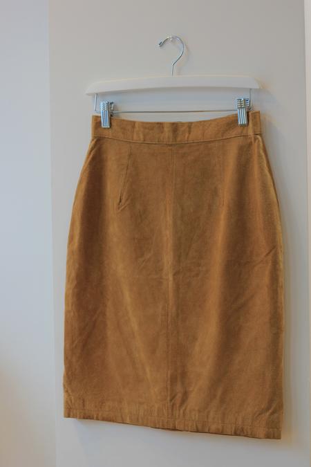 Hey Jude Vintage Desert Suede Skirt