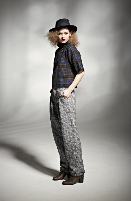 H. Fredriksson W 14 Crop Top Plaid