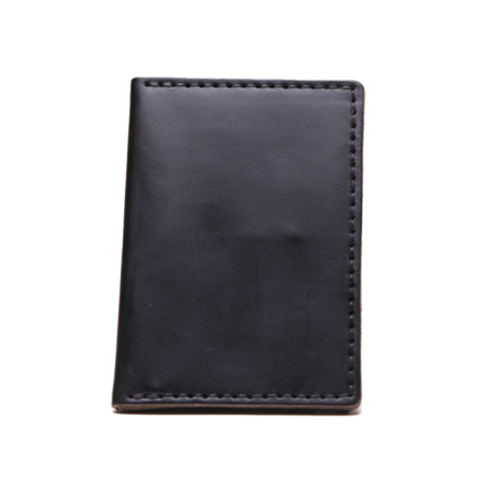 Wood & Faulk Black Traveler Wallet