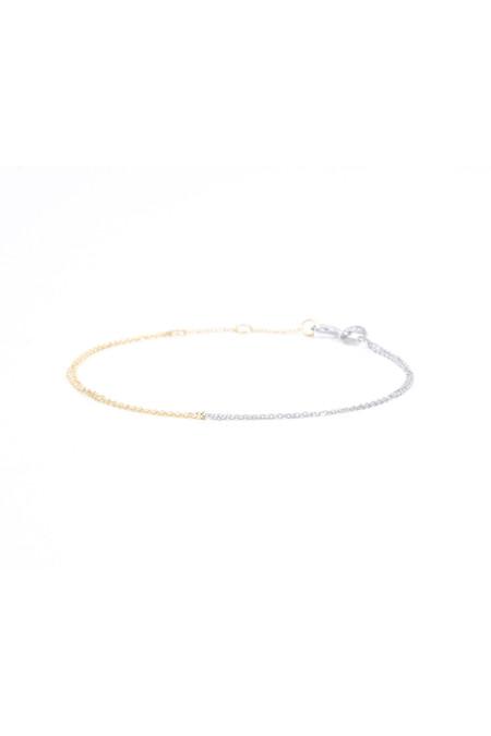 Eikosi Dyo White and Yellow Gold Bracelet
