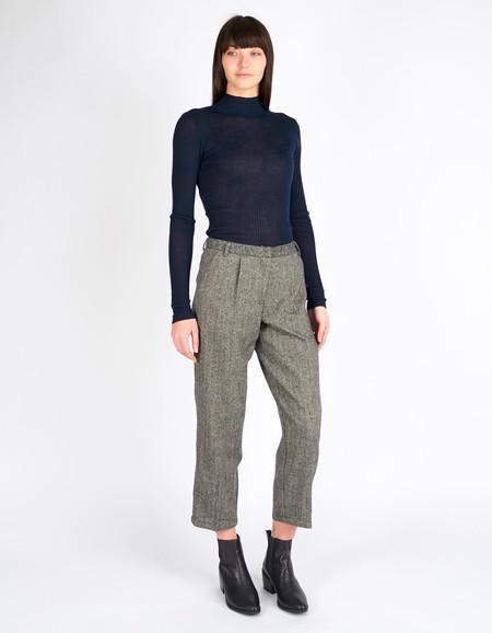 Selected Femme Costa LS Knit Rib Turtleneck Dark Sapphire