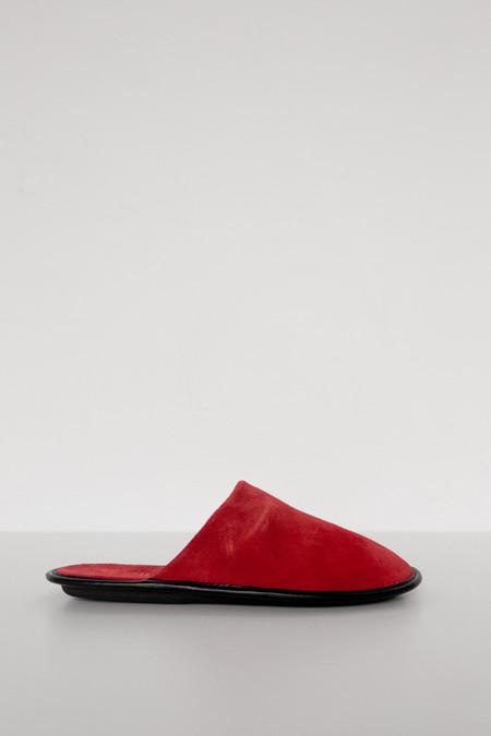 Lisa B. Men Suede Slipper - Red