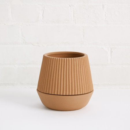Coming Soon Pleated Earthen Planter