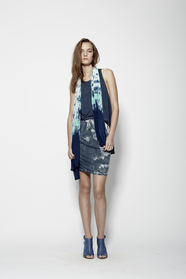 Laura Siegel Hand-Printed Jersey Skirt