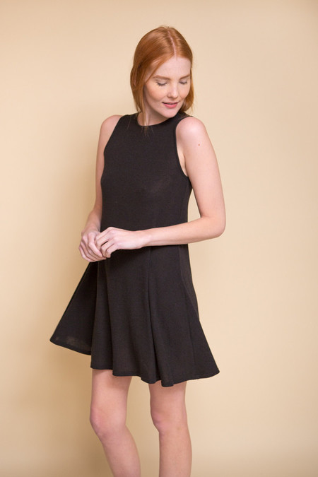 BLQ Basiq Hacci Swing Dress - Black