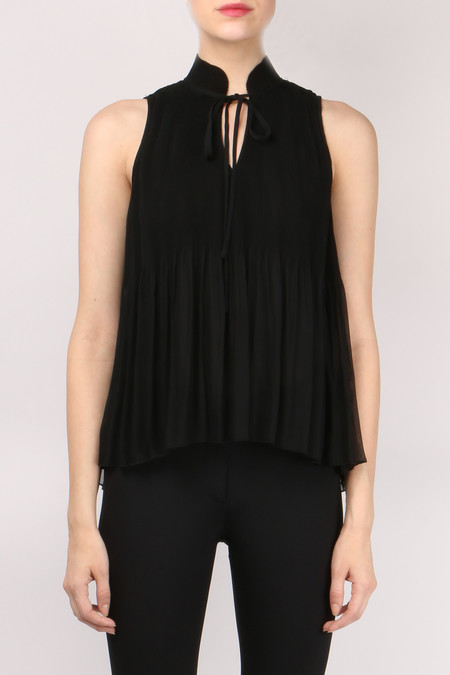 Derek Lam 10 Crosby Sleeveless Pleated Top
