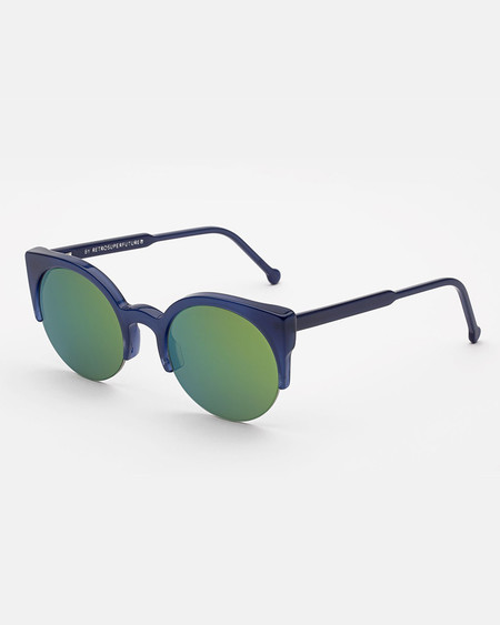 RetroSuperFuture Lucia Sunglasses in Deep Blue