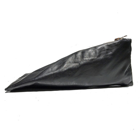 Slow and Steady Wins the Race Pyramid Pencil Case in Black Leather