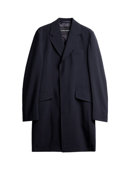 Our Legacy Classic Coat Navy Punched Seersucker