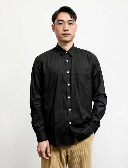 Our Legacy First Shirt Black Poplin