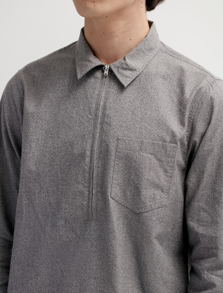 Norse Projects Hans Zip Mouliné Grey