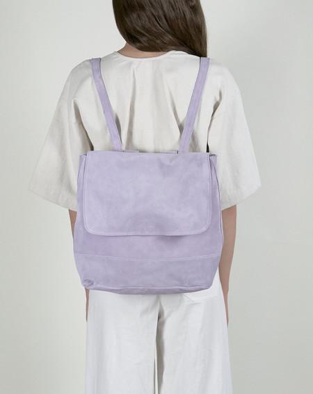 Clyde Room Backpack in Lavender Suede