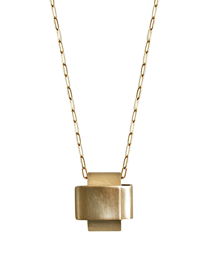 Laura Lombardi Croc Pendant Necklace