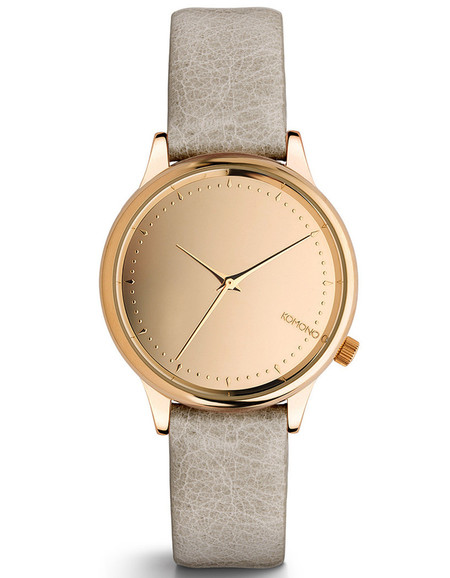 Komono Estelle Mirrored Watch Rose Gold Grey