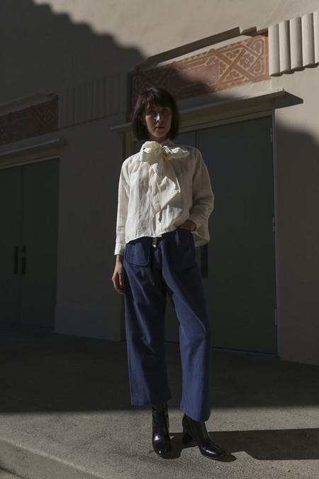 Caron Callahan Gwen Pant in Indigo Pique