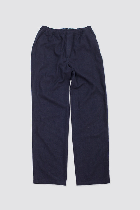 Our Legacy Relaxed Trousers Navy Fleece Light Wool