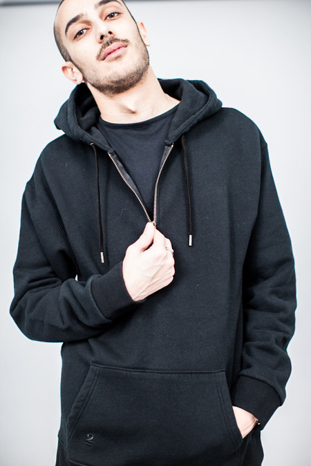 Robert Geller Seconds Zipper Sweatshirt Black