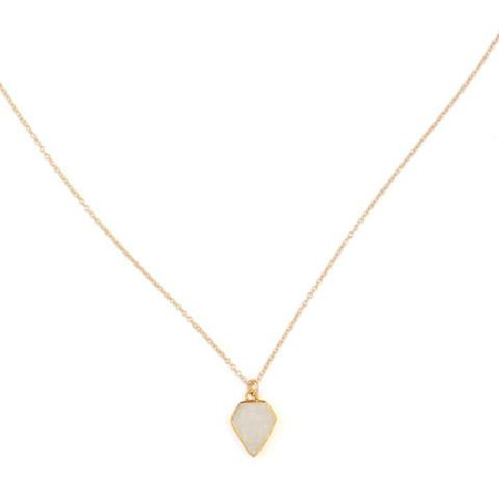 LEAH ALEXANDRA GEM NECKLACE IN MOONSTONE