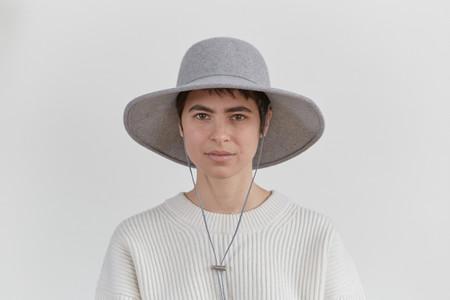 Clyde Ryo Hat in Heather Grey Wool w. Drawstring
