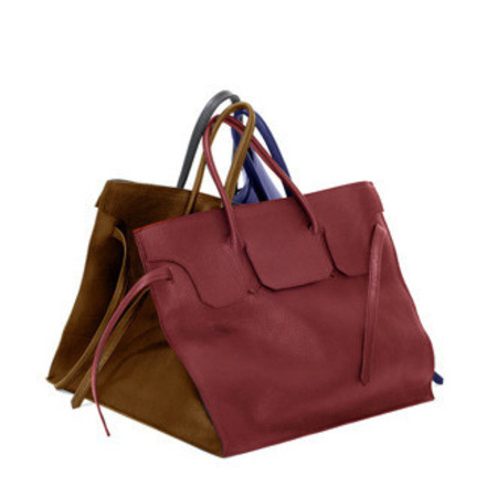 Slow and Steady Wins the Race Four Sided Rectangular Bag in Duo - Red, Cognac