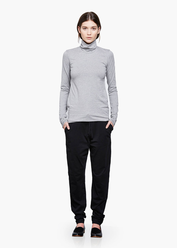 Kowtow Grey Marle Turtle Neck Top