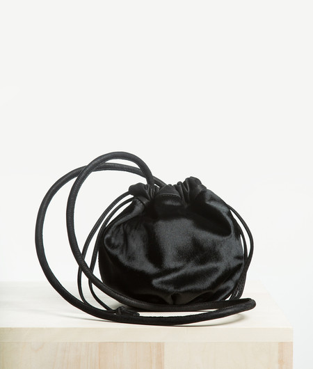 Ceri Hoover Phoebe DrawString - Black Calf