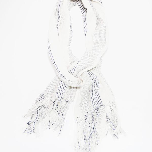 Kiriko Karu-Ori White Scarf