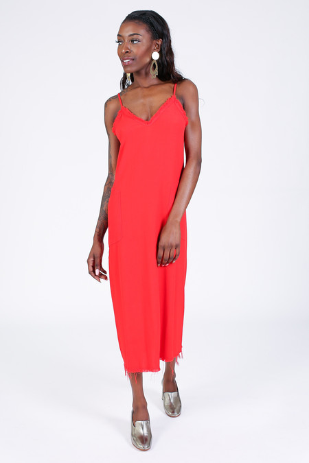 Raquel Allegra V Cami Dress in Poppy