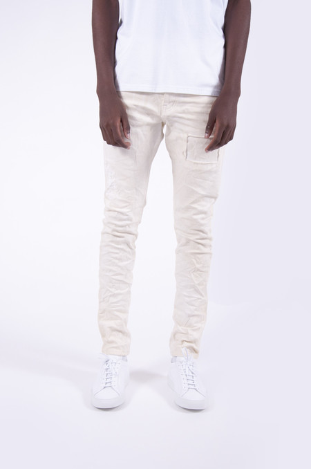 Purple P002 Dropped Fit Denim White Repair