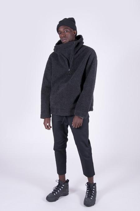4 Horsemen Supplies Sherpa Fleece Pullover Hoodie Charcoal
