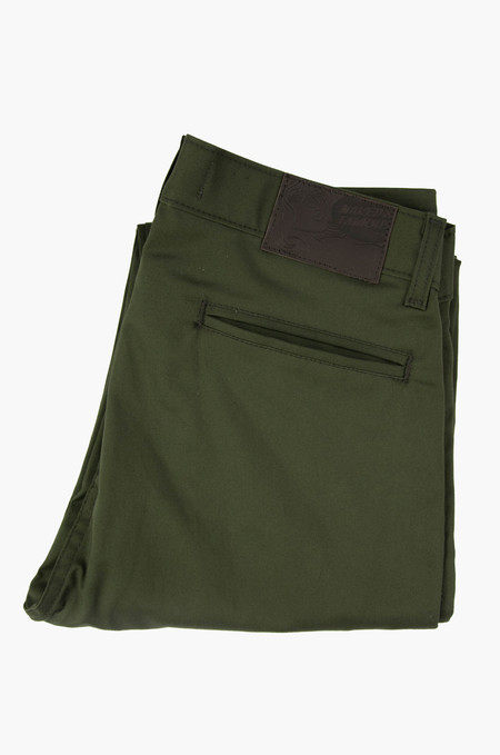 Naked & Famous Slim Chino Khaki Green