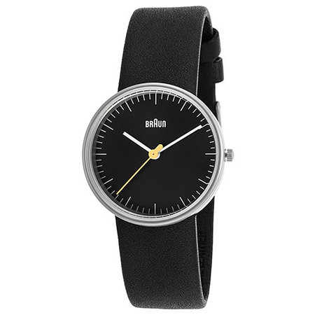 BRAUN CLASSIC LADIES WATCH QUARTZ 3 HAND MOVEMENT / BLACK