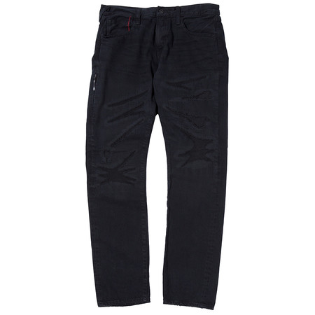 DENIM BY VANQUISH & FRAGMENT REGULAR STRAIGHT 13OZ SELVEDGE DENIM / BLACK