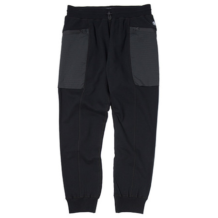 REIGNING CHAMP MID WEIGHT TERRY HONEYCOMB STRETCH WOVEN PANT / BLACK