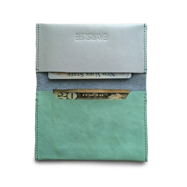 Eayrslee Henry Leather Wallet in Light Blue