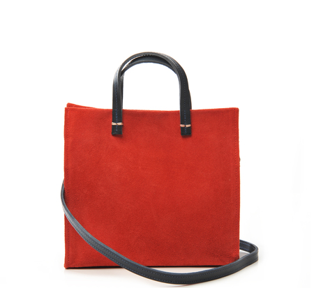 Clare V Red Suede Petite Simple Tote