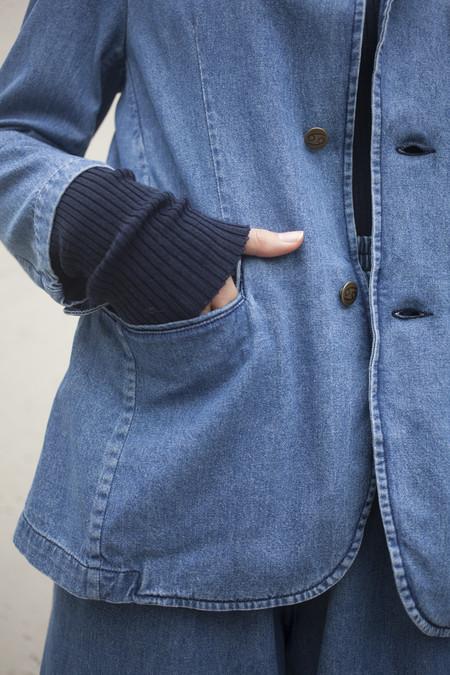69 Denim Suit Blazer in Medium Wash
