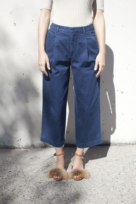 Creatures of Comfort Henry Pant in Denim Blue