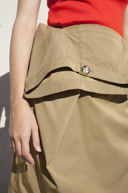 Nancy Stella Soto Khaki Skirt