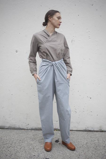 Cosmic Wonder Organic Cotton Patchwork Shirt in Beige