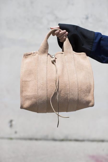 Visvim Teton Tote Bag in Natural Suede