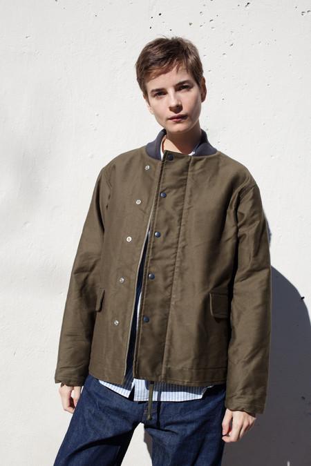 Unisex Chimala Vintage Deck Jacket in Olive Drab