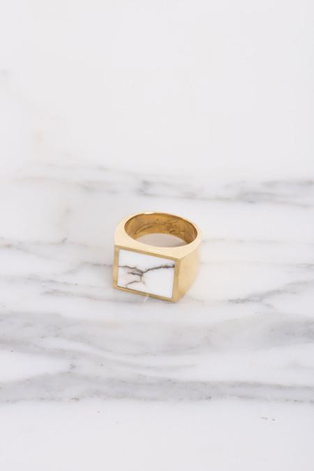Legier White Turquiose Signet Ring