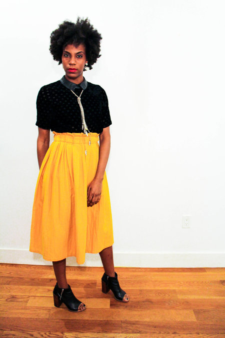 Wrk-shp Draft Skirt Persimmon