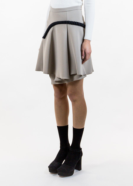 Carven Asymmetrical Short Skirt