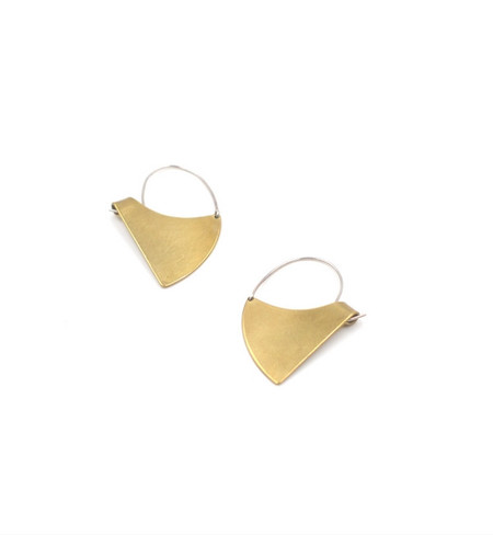 Fay Andrada Brass Vino Earrings