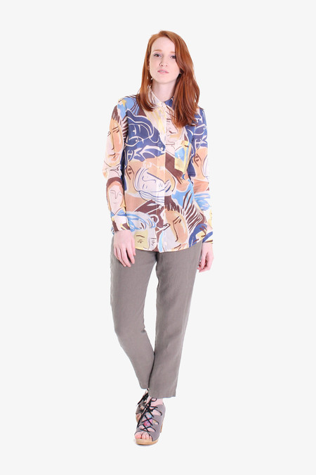Rachel Comey Mens-y shirt in faces print